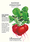 Radish Crimson Giant HEIRLOOM Seeds